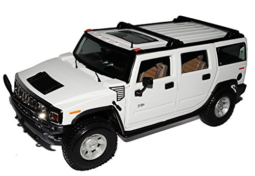 hummer-h2-suv-weiss-2003-2010-1-18-maisto-modell-auto