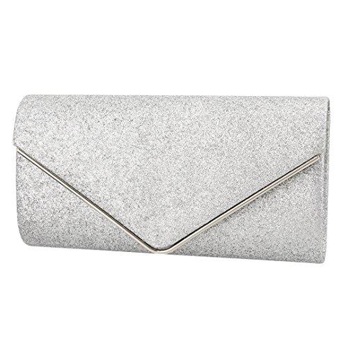Borsa Da Sera Elegante Brillante Delle Donne Di Novias Boutique Sacchetto Cosmetico Borsa Da Sposa Frizione (argento) Argento