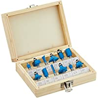 Silverline 792084 0.25 inch TCT Router Bit Set - 0.25 inch, 12-Piece Set