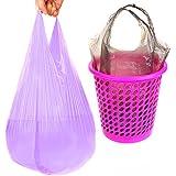 3rollos bolsa de basura–-plástico inodoro engrosamiento refuerzo puntos Off tipo chaleco tipo portátil bolsa protección del medio ambiente hogar bolsas de basura para el hogar y Hotel Color al azar