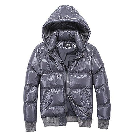 ECTIC 2017 Winter new Down Outerwear Coats Men Down jackets D0225 (L, GRAY)