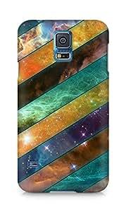 Amez designer printed 3d premium high quality back case cover for Samsung Galaxy S5 (Stripes sky obliquely)
