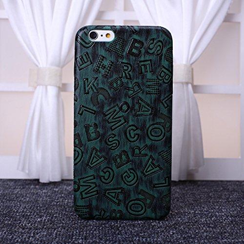 EKINHUI Case Cover neue graffiti - alphabet bunte deisgn ultra slim flexible pu - soft - schutzhülle deckung für das iphone 6 65 plus ( Color : Gray , Size : IPhone 6S 6 ) Green