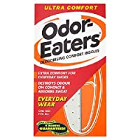 Odor-Eaters Ultra Comfort Insoles | Charcoal Deodorising Layer | Thin Design |