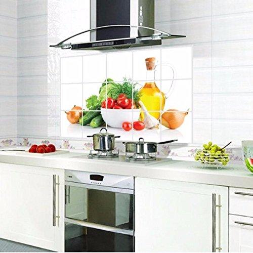 Tonsee, adesivi decorativi per cucina da parete 45×75 cm a prova di ...
