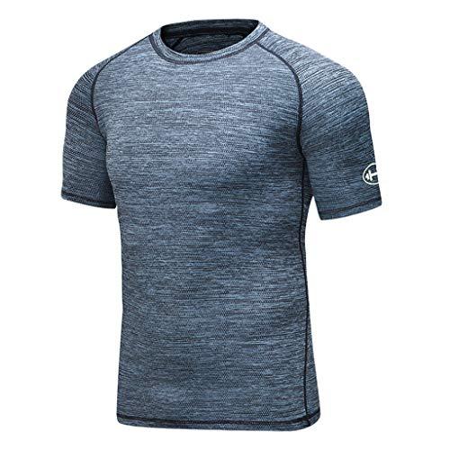 🔥 Eaylis Herren T-Shirt Tops Schnelltrocknende Stretch-Strumpfhose Mit Atmungsaktiven Kurzen ÄRmeln