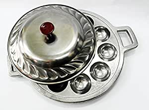 Kanom Krok Pan Cover for Sale in Amazon , Kanom Krog Coconut Pancakes Griddle Thailand with LID Small Size ,Thai Dessert Cooking Kitchenware Tools Takoyaki. by Thai