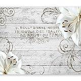 murando - Fototapete Blumen Lilien 350x256 cm - Vlies Tapete - Moderne Wanddeko - Design Tapete - Wandtapete - Wand Dekoration - Holz Blume Ornament b-A-0170-a-b