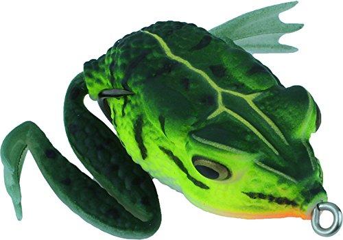 Frosch Hechtköder Gummi Oberflächenköder mit Doppelhaken Kunstköder Froschimitation, Farbe :Dunkelgrün