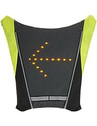 Lixada Vélo Sac à Dos USB Réfléchissant Attachement Clip avec Télécommande LED Signal Lumière Extérieure Sport Sac de pour Cyclisme Courir Marche Jogging