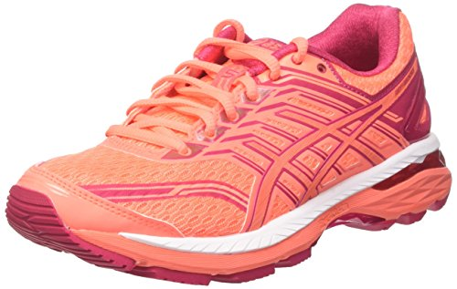ASICS Damen GT-2000 5 Laufschuhe, Orange (Flash Coral Pink/Bright Rose), 39 EU -
