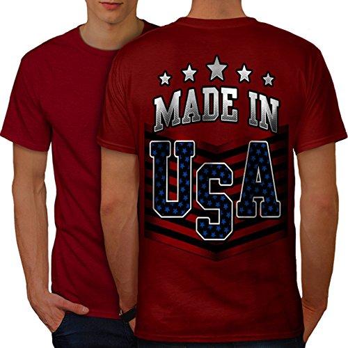 wellcoda Gemacht im USA Männer 4XL Ringer T-Shirt