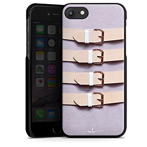 Apple iPhone X Silikon Hülle Case Schutzhülle Schnallen Flieder Leder Mode Hard Case schwarz