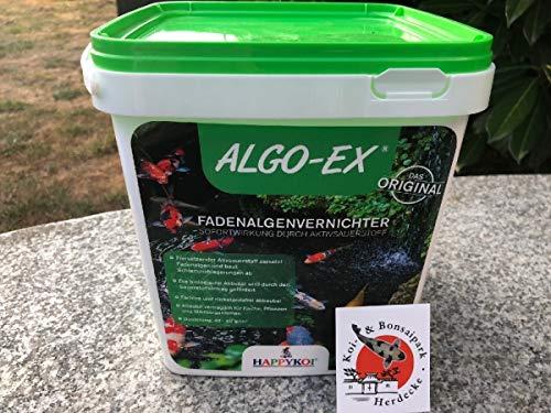 Happy Koi ALGO-EX® ORIGINAL Fadenalgenenetferner Bereich von Aqua 5 Dry Algo-EX Algenentferner 10,0 kg (Eimer) für 250 QBM -