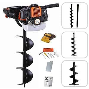 Todeco - Mototrivella, Cilindrata motore: 52 cm³, Diametro punta trapano: 100 mm, 150 mm, 200 mm, Arancio