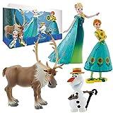 Disney Eiskönigin Frozen - Deluxe Set Spielfiguren Sommer - 4 Figuren Set