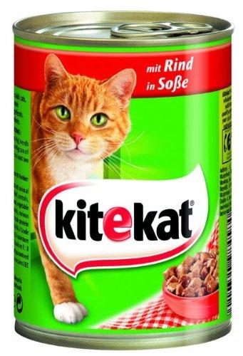 Kitekat mit Rind in Soße 400g 12 X - Kitekat Dosen Katzenfutter