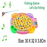 Best Kids Electronics - Fishing Game - Kids Colorful Electronic Musical Rotating Review