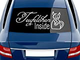 GRAZDesign 740078_70x26_076G Heckscheiben Auto Aufkleber Autoaufkleber Tuning Sticker Teufelchen Inside (70x26cm//076 telegrau)