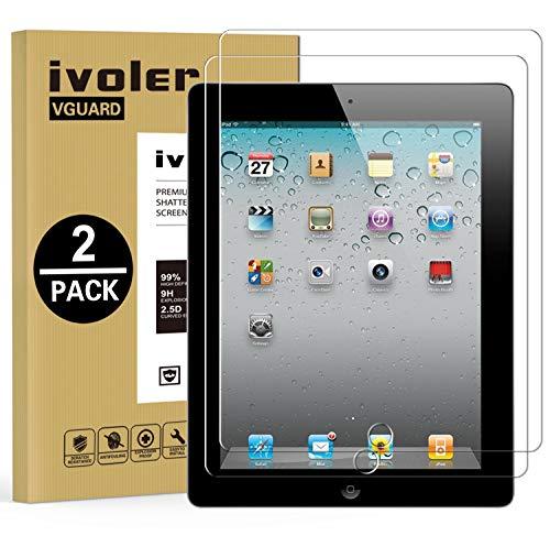 iVoler [2 Stücke] Panzerglas Schutzfolie für iPad 2/3 / 4 9.7 Zoll, 9H Härte, Anti- Kratzer, Bläschenfrei, 2.5D Runde Kante (Ipad 4 Screen Protector)