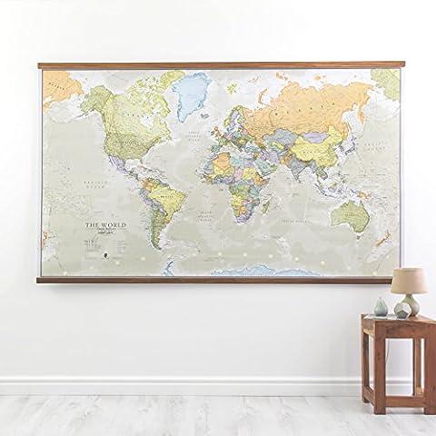Große Weltkarte Klassische -