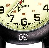 Klox Black Clip On Carabiner Metal Fob Watch Luminous Dial Paramedic Doctor Nurse Unisex Men Women Bild 6