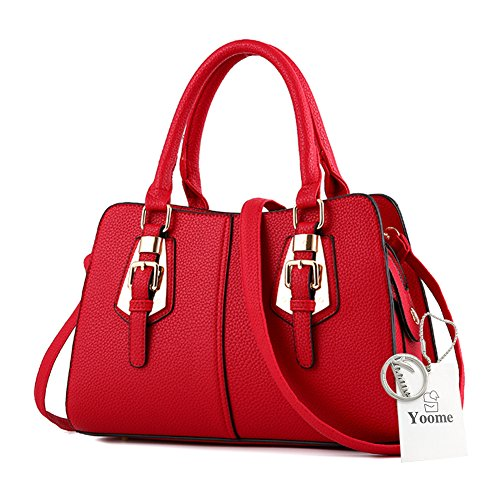 Borsa da donna Yoome per borse donna casual per donne borse da donna crossbody per ragazze Borsa elegante - Borgogna Borgogna