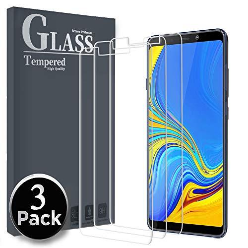 Ferilinso Panzerglas Schutzfolie für Samsung Galaxy A9 2018, [3 Pack] Gehärtetes Glas Displayschutzfolie mit Lebenszeit Ersatzgarantie für Samsung Galaxy A9 2018 (Transparent)