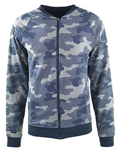 Tom Tailor für Männer Sweat wendbare Bomber-Jacke black iris blue XXL