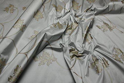 Escalano Dupion Seide Glanz Blumenmuster Bluse Kleid Schal Umhang Nachtkleid Silk Stoffe SE32 -