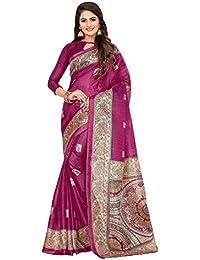 SAREE MALL Art Silk Saree With Blouse Piece (7MDB8772D_Pink_Free Size)