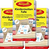 AEROXON Kleidermottenfalle - Dreierpack 3x2 = 6 Stück