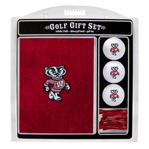 Team Golf NCAA Besticktes Handtuch Geschenk-Set, Herren, Wisconsin Badgers