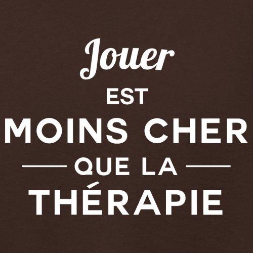 Jouer est moins cher que la thérapie - Femme T-Shirt - 14 couleur Marron Foncé