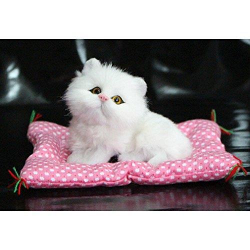 CanVivi Mini Katzen Spielzeug Kätzchen mit Matte Plüschtiere Auto Dekoration ,1#