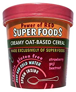 Of The Earth Superfoods Power of Red Superfood Cereal Pot & Spoon Organic 65g (Pack of 8)
