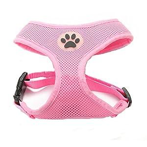 BbearT® Hundegeschirr, atmungsaktiver Netzstoff, weich, für Hund/Welpe, verstellbar