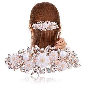 DBJGD Haarschmuck Blume Haarspangen Harz Foral Haarspange hübsch Haarnadel Kopfbedeckungen Accessoires Geschenk für Frau Mädchen 6 Farben-in Frauen Haarschmuck