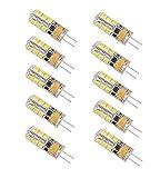 Minger G4 LED Lampe 2.5W,24 X 2835 SMD, 180LM, Ersatz für 20W Halogenlampen, 12V AC/DC Warmweiß 3000K,360 Grad, LED Birnen, LED Leuchtmittel,Nicht Dimmbar-10 Pack [Energieklasse A++]