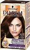 Diadem Seiden-Color-Creme, 733 Dunkles Schokobraun, 3er Pack (3 x 142 ml)