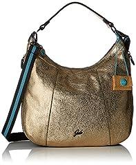 Idea Regalo - GABS Alison Tg M Black - Monospalla Trasf. Metal +vela Borsa Donna, Argento (Platino), 1x35x39 cm (B x H T)