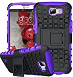 LG K4 H�lle Nnopbeclik Hybrid 2in1 TPU+PC Schutzh�lle Cover Case Silikon R�stung Armor Dual Layer Muster Handytasche Backcover 360-Grad-Drehung st�nder sto�fest Handy H�lle Tasche Schutz Etui Schale Bumper Pour LG K4 4.5 Zoll  Bild