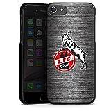 DeinDesign Apple iPhone 8 Hülle Case Handyhülle 1. FC Köln Metall Look Fussball