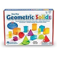 Learning Resources LER4331 - Formas geométricas de plástico transparentes, varios colores
