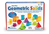 Learning Resources LER4331 - Formas geométricas de plástico transparentes, varios colores