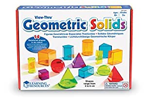 Learning Resources Formes Géométriques Colorées Transparentes View-Thru