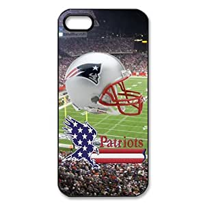 Cool retro NFL The New England Patriots American Football printed pattern for Apple iphone 5 5s new season fashion hard Case Popular plastic slim durable cover creative gift ultrathin Personalized Premium Quality by iDesign Studio