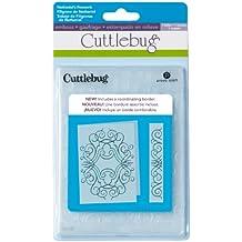 Cricut Cuttlebug - Carpeta y borde de estampado en relieve (13 x 18 cm), diseño de filigranas de Nathaniel