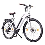 "NCM Milano Bicicletta elettrica da Trekking, 250W, Batería 48V 13Ah 624Wh 28"" Bianco"