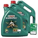 2x 5 L = 10 Liter Castrol Magnatec 5W-40 C3 Motor-Öl inkl. Ölwechsel-Anhänger